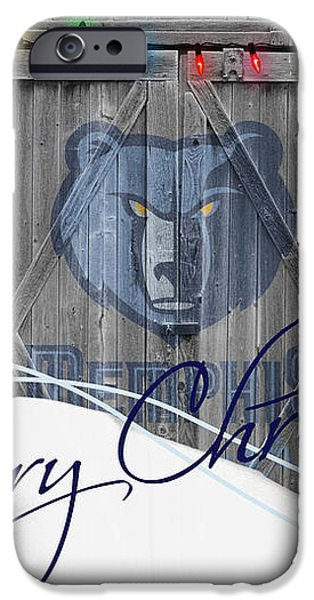 MEMPHIS GRIZZLIES iPhone Case by Joe Hamilton