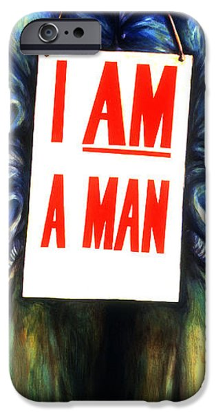 Discrimination Paintings iPhone Cases - Memphis sanitation iPhone Case by Cardell Walker
