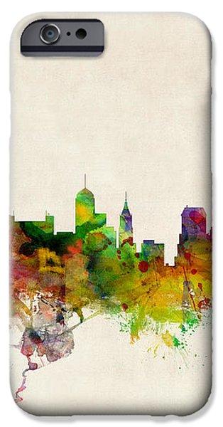 Memphis Tennessee Skyline iPhone Case by Michael Tompsett