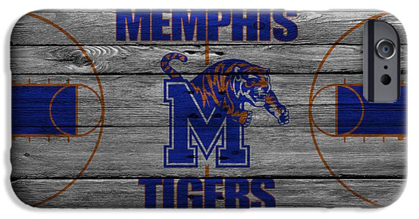 Division iPhone Cases - Memphis Tigers iPhone Case by Joe Hamilton