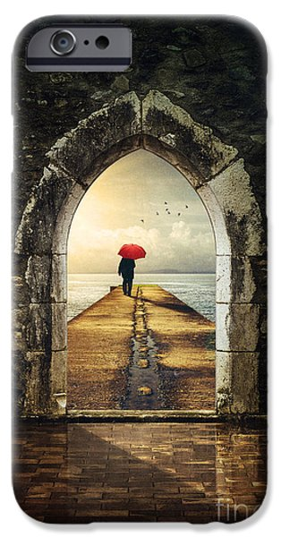 Entrance Door Photographs iPhone Cases - Men in Pier iPhone Case by Carlos Caetano