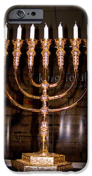 Menorah iPhone Case by Roger Reeves  and Terrie Heslop