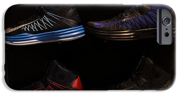 Nike Photographs iPhone Cases - Mens Sports Shoes - 5D20654 iPhone Case by Wingsdomain Art and Photography