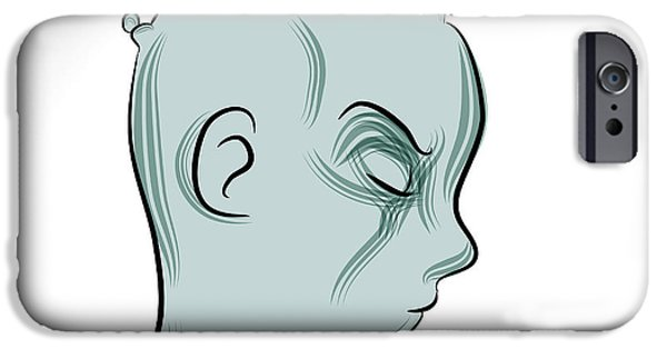 Multiple Personalities iPhone Cases - Mental Illness iPhone Case by John Takai