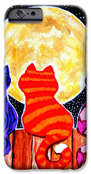 Meowing at Midnight iPhone Case by Nick Gustafson
