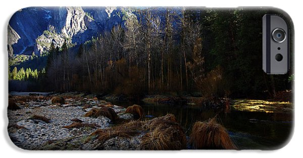 Taft iPhone Cases - Merced River Beach iPhone Case by Scott McGuire