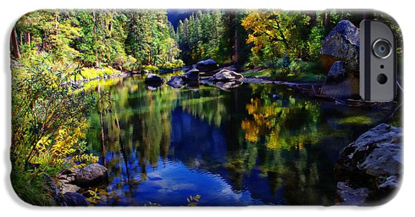 California Photographs iPhone Cases - Merced River Yosemite National Park iPhone Case by Scott McGuire