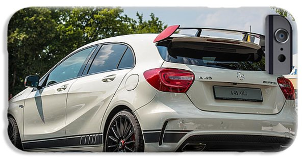 Atp World Tour iPhone Cases - Mercedes A-class AMG 45 as ATP trophy in Stuttgart - Germany iPhone Case by Frank Gaertner