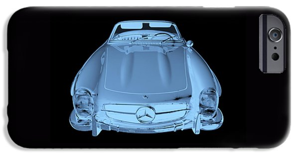 Warhol iPhone Cases - Mercedes Benz 300 SL Convertible Modern Art iPhone Case by Keith Webber Jr