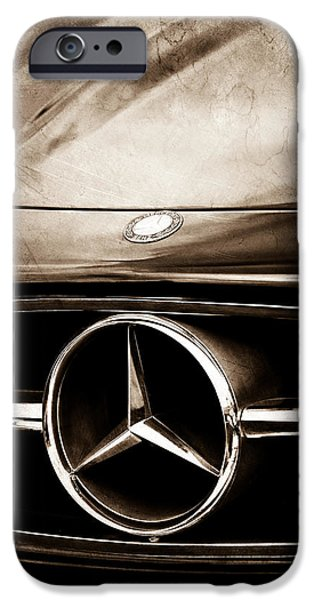 Antique Cars iPhone Cases - Mercedes-Benz Grille Emblem iPhone Case by Jill Reger