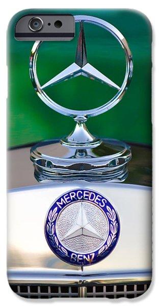 Mercedes Benz Hood Ornament 3 iPhone Case by Jill Reger