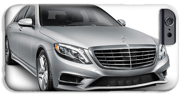 Cut-outs iPhone Cases - Mercedes-Benz S550 4MATIC luxury car iPhone Case by Oleksiy Maksymenko