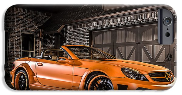 Orange Digital iPhone Cases - Mercedes SL65 AMG Custom iPhone Case by Douglas Pittman