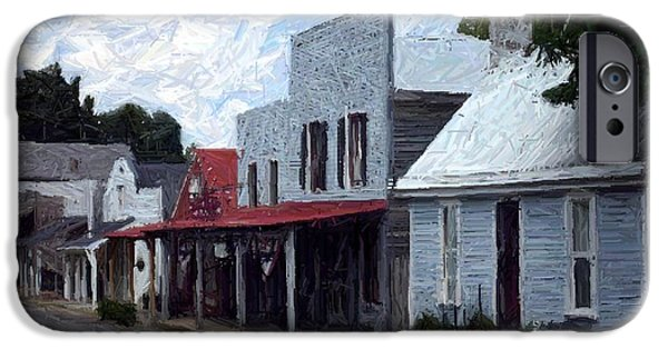 House Tapestries - Textiles iPhone Cases - Merchants Row - Perryville KY iPhone Case by Thia Stover