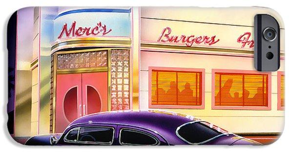 Cruiser iPhone Cases - Mercs Burgers iPhone Case by Bruce Kaiser