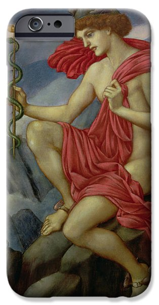 Messenger iPhone Cases - Mercury iPhone Case by Evelyn De Morgan