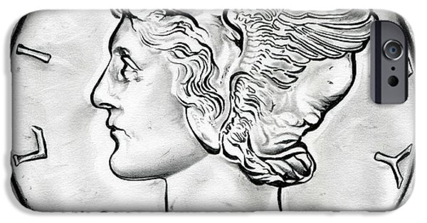 Coin iPhone Cases - Mercury iPhone Case by Fred Larucci