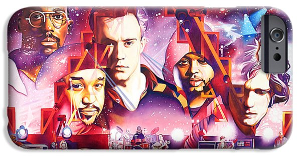 The Dave Matthews Band Paintings iPhone Cases - Mercy iPhone Case by Joshua Morton