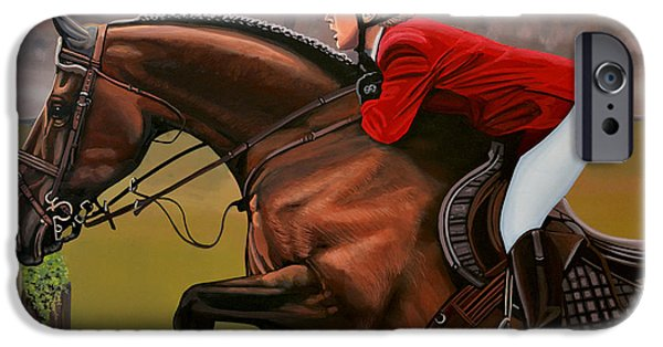 Horseback Riding iPhone Cases - Meredith Michaels Beerbaum iPhone Case by Paul Meijering