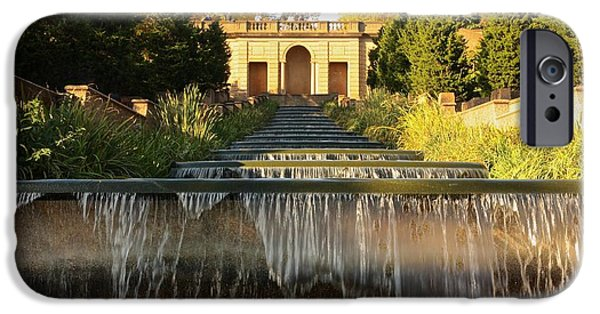 Malcolm X iPhone Cases - Meridian Hill Park Waterfall iPhone Case by Stuart Litoff
