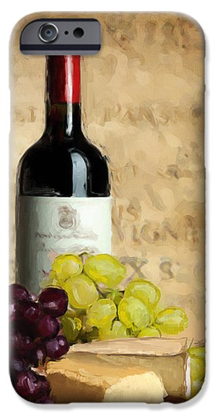 Vineyard Art iPhone Cases - Merlot IV iPhone Case by Lourry Legarde