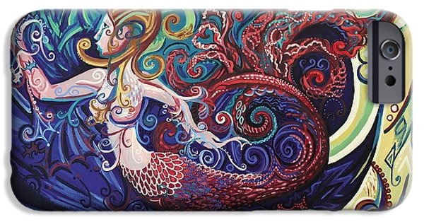 Genevieve Esson iPhone Cases - Mermaid Gargoyle iPhone Case by Genevieve Esson