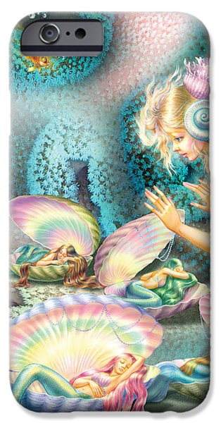 Mermaids iPhone Cases - Mermaids Bedroom iPhone Case by Zorina Baldescu