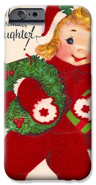 Merry Christmas Daughter iPhone Case by Munir Alawi