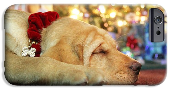 Best Sellers -  - Puppy Digital iPhone Cases - Merry Christmas from Lily iPhone Case by Lori Deiter