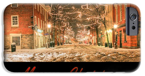 Alexandria iPhone Cases - Merry Christmas iPhone Case by JC Findley