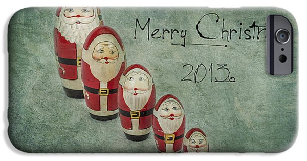 Jeff Swanson iPhone Cases - Merry Christmas iPhone Case by Jeff Swanson