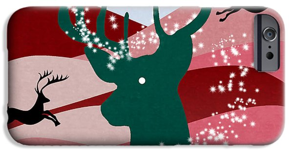 Caricature Posters iPhone Cases - merry Christmas iPhone Case by Mark Ashkenazi