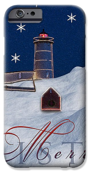 Merry Christmas iPhone Case by Susan Candelario