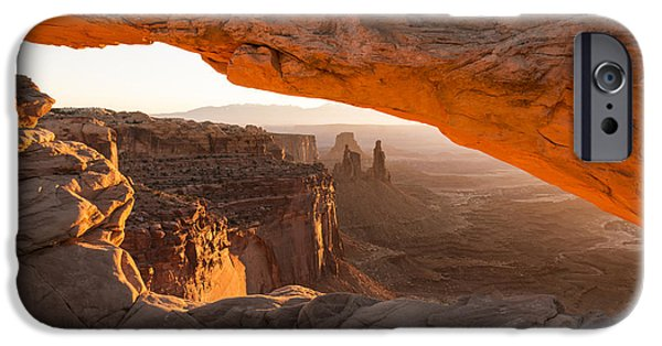 Morning iPhone Cases - Mesa Arch Sunrise 5 - Canyonlands National Park - Moab Utah iPhone Case by Brian Harig