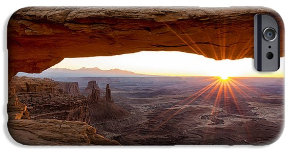 Landscape. Scenic iPhone Cases - Mesa Arch Sunrise - Canyonlands National Park - Moab Utah iPhone Case by Brian Harig