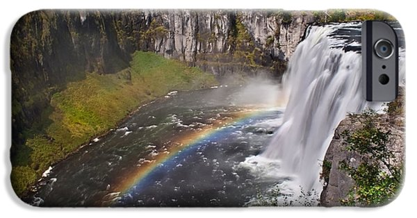 Haybale iPhone Cases - Mesa Falls iPhone Case by Robert Bales
