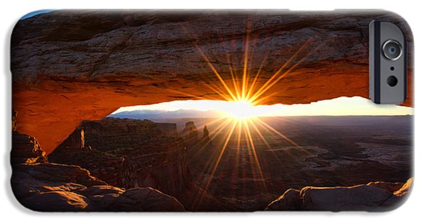 Winter Light iPhone Cases - Mesa Sunrise iPhone Case by Chad Dutson