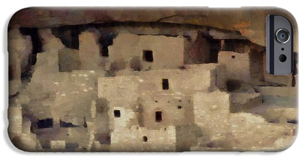 Red Rock Mixed Media iPhone Cases - Mesa Verde iPhone Case by Dan Sproul