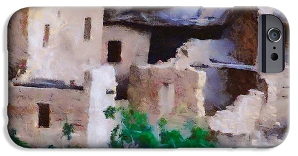 Ruin Mixed Media iPhone Cases - Mesa Verde Ruins iPhone Case by Dan Sproul