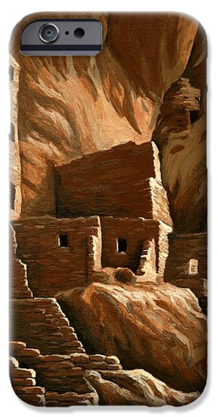 Recently Sold -  - Ruin iPhone Cases - Mesa Verde tower house iPhone Case by Darla Hallmark