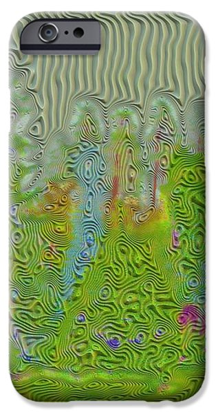 Meshed Tree Abstract iPhone Case by Liane Wright
