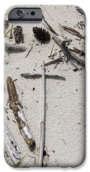 Message in the Sand iPhone Case by Benanne Stiens