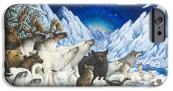 Animal Cards iPhone Cases - Message of Peace iPhone Case by Lynn Bywaters