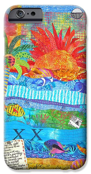 Beach Landscape iPhone Cases - Messages from Paradise iPhone Case by Susan Rienzo