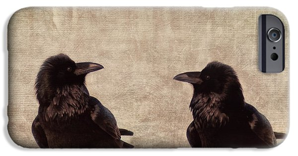 Raven iPhone Cases - Messenger iPhone Case by Priska Wettstein