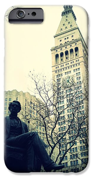 Natasha Marco iPhone Cases - Met Life and Madison Square Park iPhone Case by Natasha Marco