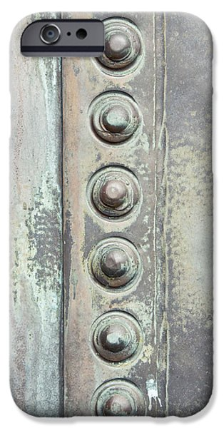 Sheets iPhone Cases - Metal detail iPhone Case by Tom Gowanlock