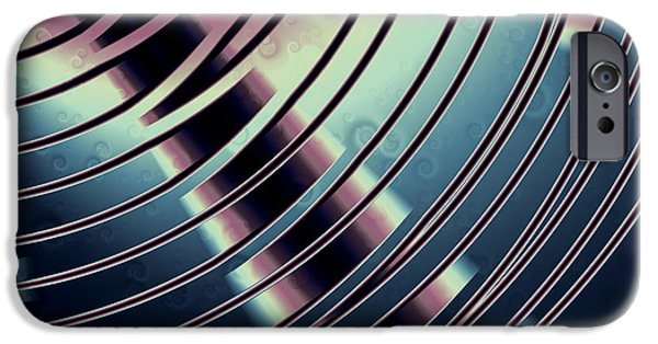 Disc iPhone Cases - Metal Disc 2 iPhone Case by Hakon Soreide