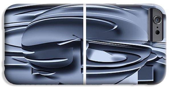 Business Digital iPhone Cases - Metal Graphic iPhone Case by Ludek Sagi Lukac