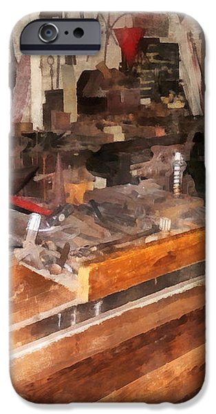 Metal Machine Shop iPhone Case by Susan Savad